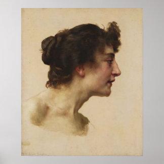 Bouguereau - Étude de Tête d Elize Brugière Impresiones