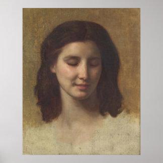 Bouguereau - Etude de Tête d'Augustine Poster