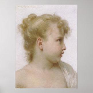 Bouguereau - Etude de Tete de Fille menudo Poster