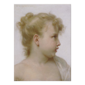 Bouguereau - Etude de Tete de Petite Fille Poster