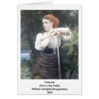 Bouguereau - Faneuse Card