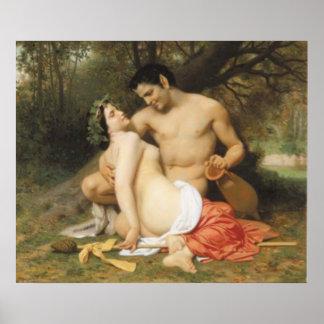 Bouguereau - Faune et Bacchante Poster