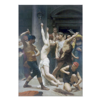 Bouguereau - Flagellation de Jésus Christ Print