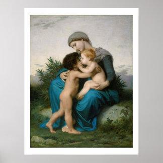 Bouguereau Fraternal_Love 1851 Póster
