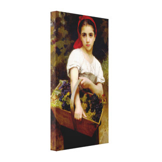 Bouguereau Harvester Gallery Wrapped Canvas