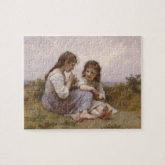 Bouguereau - Idylle Enfantine Jigsaw Puzzle