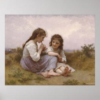 Bouguereau - Idylle Enfantine Posters