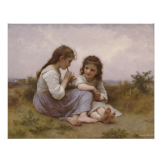 Bouguereau - Idylle Enfantine Poster