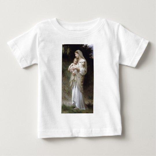 Bouguereau Innocence Lady Child Lamb Baby T-Shirt