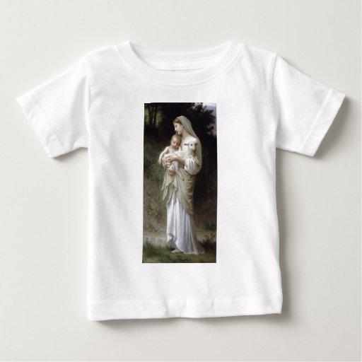 Bouguereau Innocence Lady Child Lamb Tee Shirt