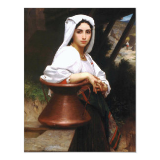 Bouguereau Italian Girl Drawing Water Invitations