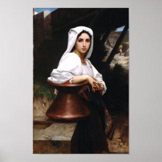 Bouguereau-Italian Girl Drawing Water Poster
