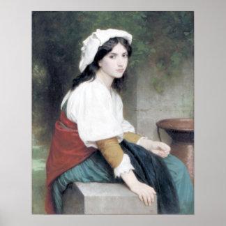 Bouguereau - Italienne à la Fontaine Poster
