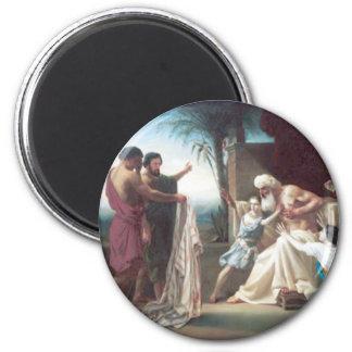 Bouguereau - Jacob Recevant le Tunique de son Fils 2 Inch Round Magnet