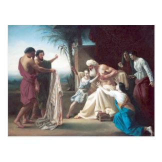 Bouguereau - Jacob Recevant le Tunique de son Fils Postcard