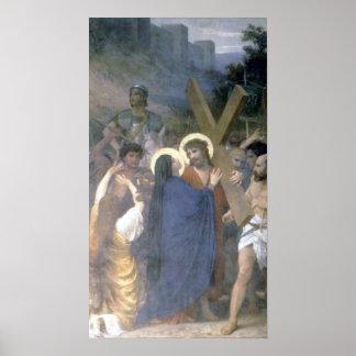 Bouguereau - Jésus-Christ Rencontre sa Mère Poster