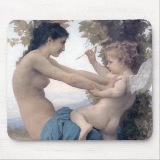 Bouguereau - Jeune Fille se Defendant contre Eros Mouse Pad