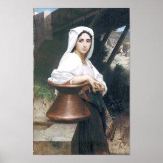 Bouguereau - Jeune Italienne Puisant de l'Eau Poster