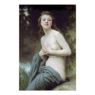 Bouguereau - La Brise du Printemps Poster