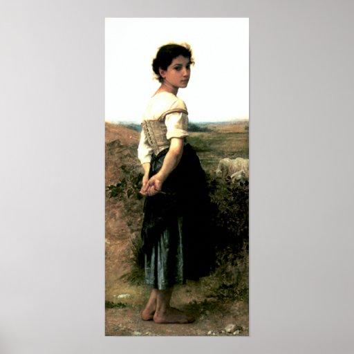 Bouguereau - La Jeune Bergere Póster