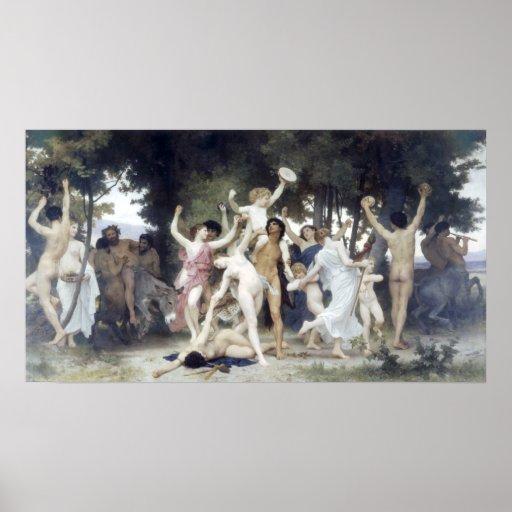 Bouguereau - La Jeunesse de Bacchus Posters