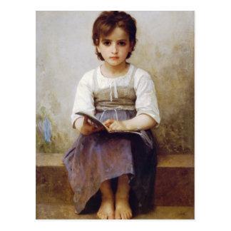 Bouguereau la postal de la lección dura