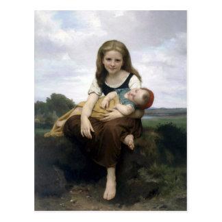 Bouguereau - La Soeur Ainee Postcard