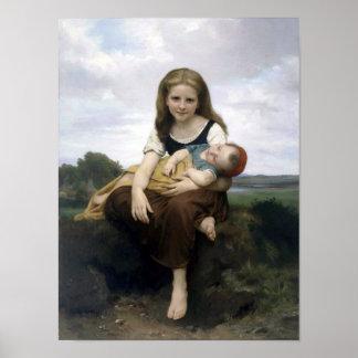 Bouguereau - La Soeur Ainee Poster
