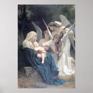 Bouguereau - La Vierge aux Anges Poster