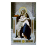 Bouguereau - La Vierge, L'Enfant Jésus y santo Je Póster