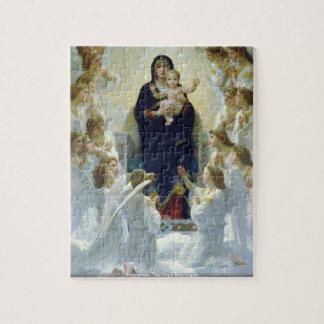 Bouguereau - la Virgen con ángeles Rompecabezas Con Fotos