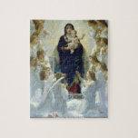 Bouguereau - la Virgen con ángeles Puzzles Con Fotos