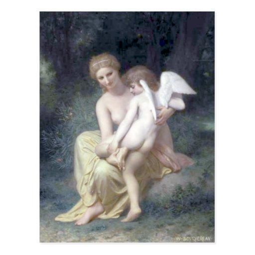 Bouguereau - L'Amour Blessé Postal