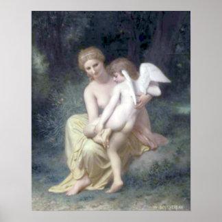 Bouguereau - L'Amour Blessé Póster