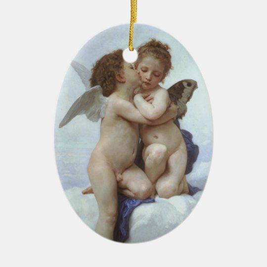 Bouguereau - L'Amour et Psyché, Enfants Ceramic Ornament