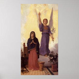 Bouguereau - L'Annonciation Poster