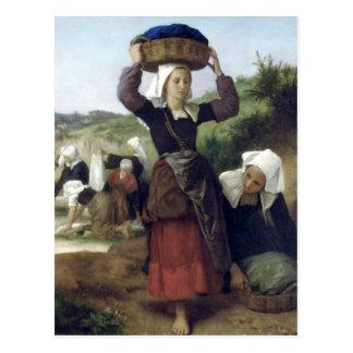 Bouguereau - Lavandieres de Fouesnant Postcard