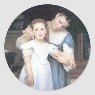 Bouguereau - Le Coquillage Classic Round Sticker