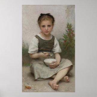 Bouguereau - Le Déjeuner du Matin Poster