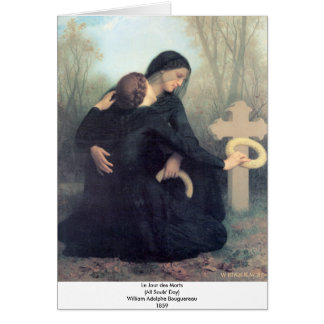Bouguereau - Le Jour des Morts Card