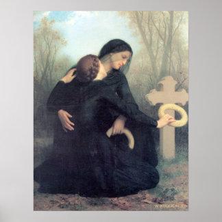 Bouguereau - Le Jour des Morts Póster