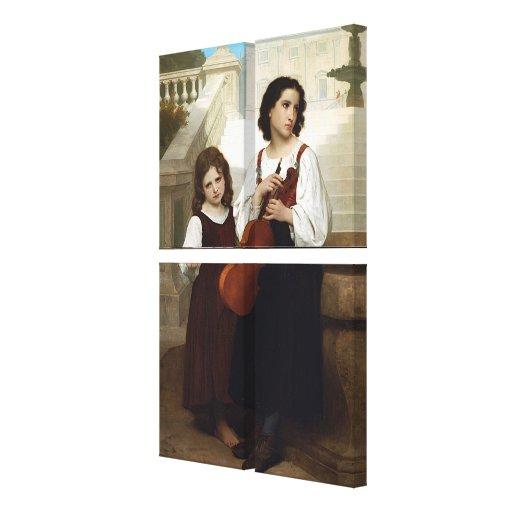 Bouguereau lejos del hogar (Loin du Pays) 1867 Lienzo Envuelto Para Galerías