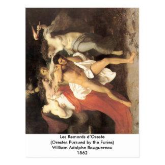 Bouguereau - Les Remords d'Oreste Postcard
