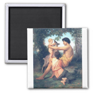 Bouguereau - L'Idylle 2 Inch Square Magnet