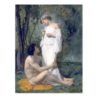 Bouguereau -L'Idylle Postcard