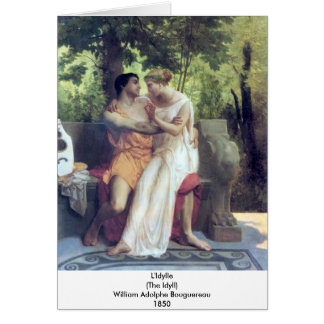 Bouguereau - L'Idylle Tarjeta De Felicitación