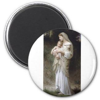 Bouguereau-Linnocence 2 Inch Round Magnet
