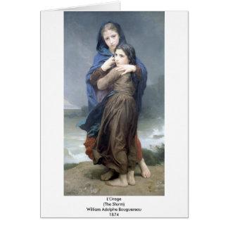 Bouguereau - L'Orage Card