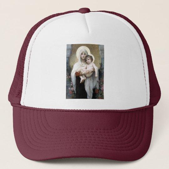 Bouguereau Madona with roses Christianity religion Trucker Hat