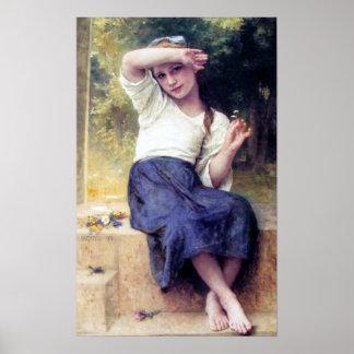 Bouguereau - margarita póster